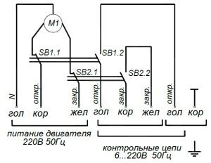 ALLFA A 230-20-0,2 схема электрического подключения электропривода