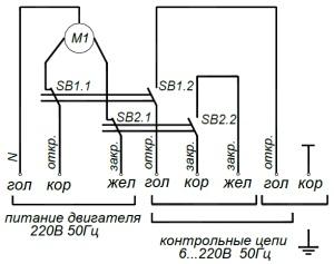 ALLFA A 230-30-0,1 схема электрического подключения электропривода