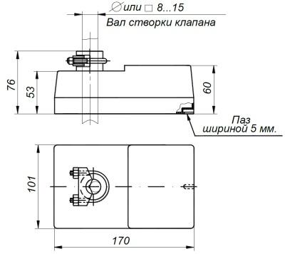 ALLFA A 230-30-0,1 габаритно-присоединительные размеры электропривода