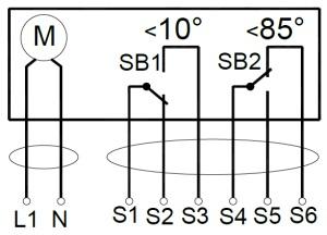 ALLFA AS 230 4-4 схема электрического подключения электропривода
