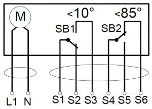 ALLFA AS 230 7-7 схема электрического подключения электропривода