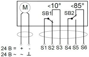 ALLFA AS 24 4-4 схема электрического подключения электропривода