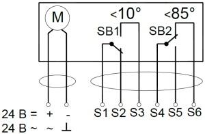 ALLFA AS 24 7-7 схема электрического подключения электропривода