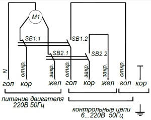 ALLFA BE 230-30-0,1 схема электрического подключения электропривода