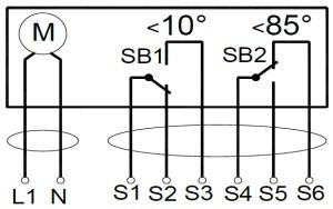 ALLFA FS 230 4-4 схема электрического подключения электропривода