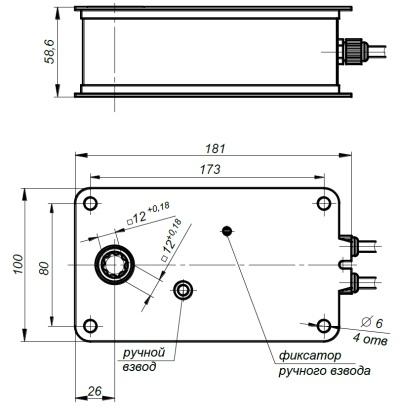 ALLFA FS 230 4-4 габаритно-присоединительные размеры электропривода