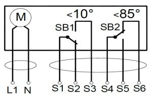 ALLFA FS 230 7-7 схема электрического подключения электропривода