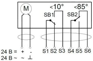ALLFA FS 24 4-4 схема электрического подключения электропривода