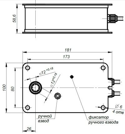 ALLFA FS 24 7-7 габаритно-присоединительные размеры электропривода