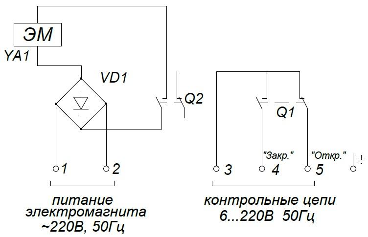 ALLFA ПЭМ 038-220 схема
