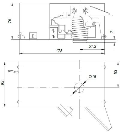 ALLFA ПЭМ 038-220 габаритно-присоединительные размеры электропривода
