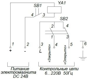 ALLFA ПЭМ 038-24 схема электрического подключения электропривода