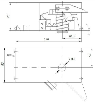 ALLFA ПЭМ 038-24 габаритно-присоединительные размеры электропривода