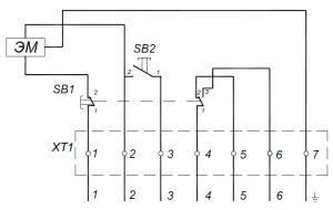 ALLFA ПЭМ 091-220 схема электрического подключения электропривода