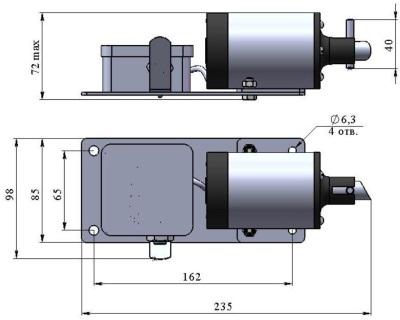ALLFA ПЭМ 091-220 габаритно-присоединительные размеры электропривода