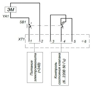 ALLFA ПЭМ 091-24 схема электрического подключения электропривода