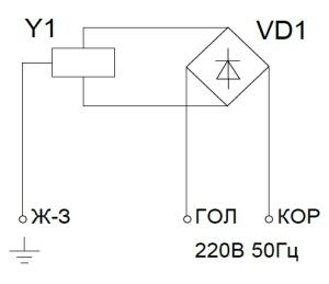 ALLFA ПЭМ 119-220 схема электрического подключения электропривода
