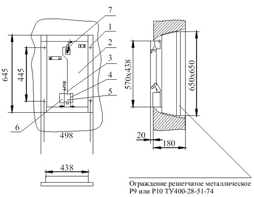 Конструктивная схема клапана дымоудаления поэтажного КДП 5А ухл 4