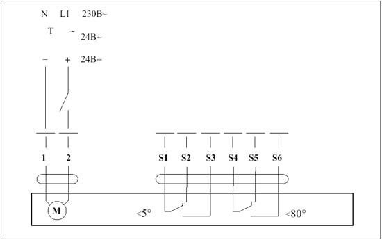 Схема включения электропривода