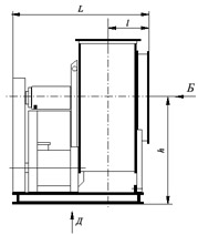 Технические характеристики вентилятора радиального ВР 80-75. Конструктивная схема