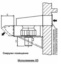 Примеры размещения вентилятора дымоудаления ВРП ДУ